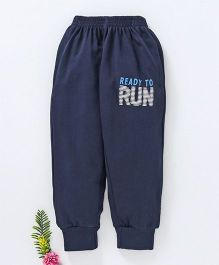 Fido Full Length Track Pant Run Print - Navy