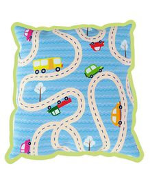 Fancy Fluff Rai Pillow Travel Design - Blue