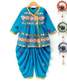 Pspeaches Floral Work Kediya Set - Blue