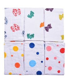 MK Handicrafts Cotton Quilts Pack of 6 - White