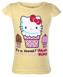 Hello Kitty - Short sleeves Kitty Print Top