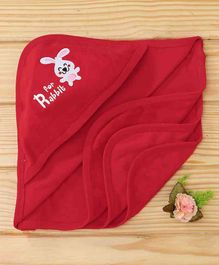 Simply Hooded Towel Rabbit Patch - Red