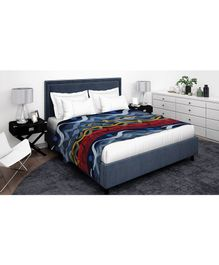 Athom Trendz Premium Double Blanket Waves Print - Multi Color