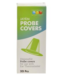 Jayem Probe Cover for Ear Thermometer Green - 20 Pieces