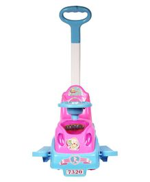Planet of Toys Manual Push Ride On - Pink Blue