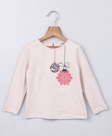 Beebay Full Sleeves T-Shirt Ornament Embroidery - Light Pink