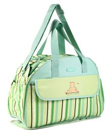 Baby Diaper Bag With Changing Mat - Green