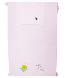 The Bee Couple Crib Sheet With Pillow Cover Pack of 2 - Pink