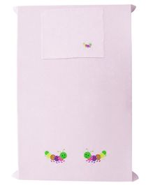 Baby Rap The Caterpillar Couple Crib Sheet With Pillow Cover Pack of 2 - Pink