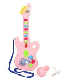 Musical Guitar With Mic - Light Pink