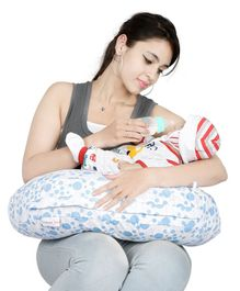 Lulamom Allergen Protected Nursing Pillow & Cover Printed - Blue