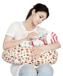 Lulamom Allergen Protected Nursing Pillow & Cover Leaf Print - Multicolour