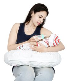 Lulamom Allergen Protected Nursing & Cover Pillow Printed - White