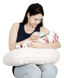 Lulamom Allergen Protected Nursing Pillow & Cover Printed - Swish Pink
