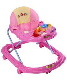 Musical Baby Walker Duck Design - Dark Pink