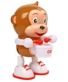 Musical Monkey Toy With Drum - Brown