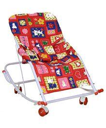 Mothertouch Swing Rocker Red - Teddy Print