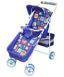 Mothertouch Lightweight Stroller Cum Pram Deluxe -  Blue