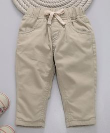 GJ Baby Pull On Trouser With Drawstring - Beige