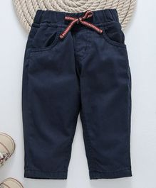 GJ Baby Pull On Trouser With Drawstring - Navy