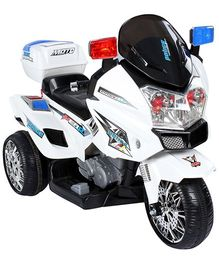 Battery Operated Bike Ride-On - White