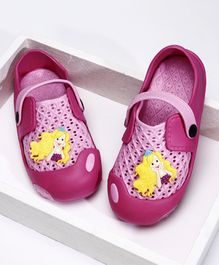 Barbie Clogs With Strap & Applique - Pink