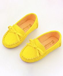 Wonderland Loafers With Knot - Yellow