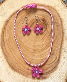 Babyhug Flower Design Jewellery Set Pink - Set of 2