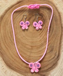 Babyhug Butterfly Design Jewellery Set Pink - Set of 2