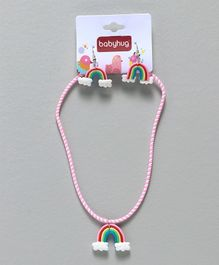Babyhug Rainbow Design Jewellery Set Pink - Set of 2