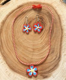 Babyhug Flower Design Jewellery Set Red - Set of 2