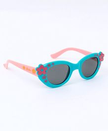 Babyhug Sunglasses Floral Print - Light Pink & Blue