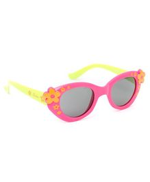 Babyhug Sunglasses Floral Print - Yellow Orange & Dark Pink