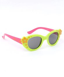 Babyhug Sunglasses Floral Print - Yellow Light Green & Pink