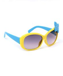 Babyhug Sunglasses Butterfly Design - Yellow & Blue