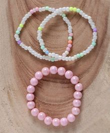 Babyhug Pearl & Beaded Bracelet Pack of 4 - Light Pink