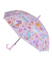 Smartcraft Unicorn Print Kids Umbrella - Light Pink