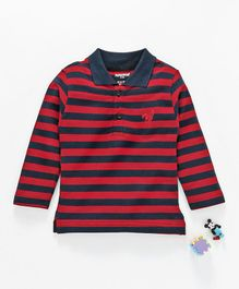 Cucumber Full Sleeves Tee Striped - Red
