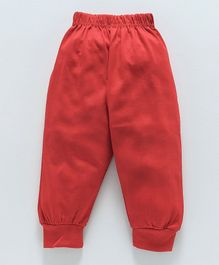Fido Full Length Solid Lounge Pant - Red