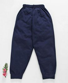 Fido Full Length Solid Color Lounge Pant - Navy Blue