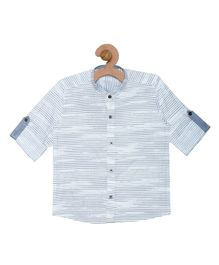 Campana Stripes Full Sleeves Shirt - Blue