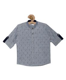 Campana Printed Full Sleeves Shirt - Grey