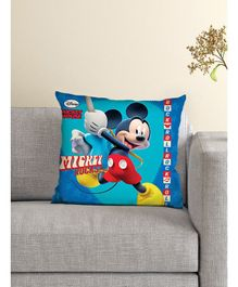 Athom Trendz Disney Cushion And Cover Mickey Mouse Print - Sea Green & Blue