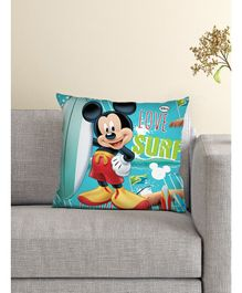 Athom Trendz Disney Cushion And Cover Mickey Mouse Print - Sea Green