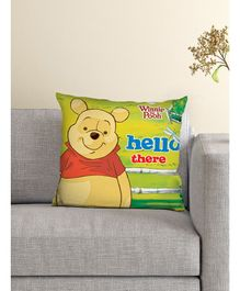 Athom Trendz Winnie The Pooh Cushion With Cover - Green Colour