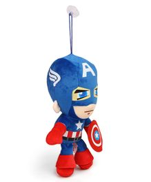Avengers Captain America Plush Soft toy with Vacuum Suckers - Red & Blue