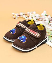 Cute Walk Casual Shoes Car Patch - dark Brown