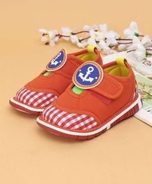 Cute Walk Casual Shoes Anchor Patch - Orange