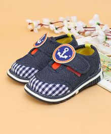 Cute Walk Casual Shoes Anchor Patch - Blue