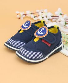 Cute Walk Casual Shoes Anchor Patch - Dark Blue
